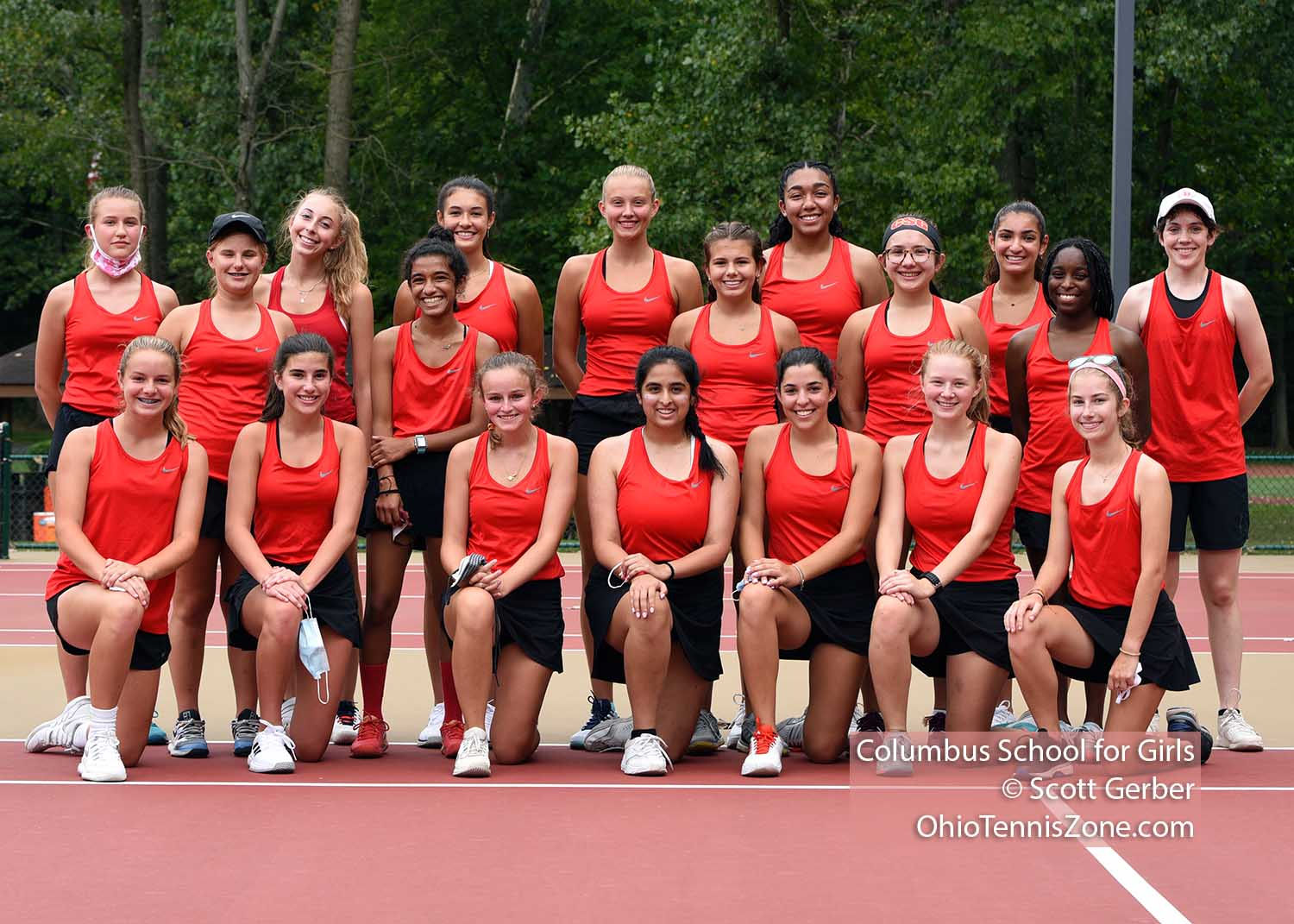 Columbus School for Girls Tennis Team